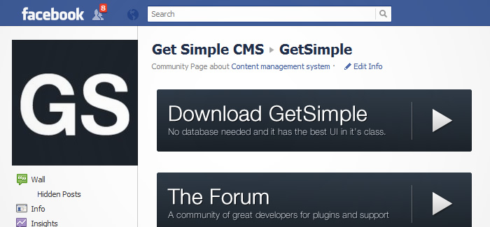 GetSimple's Social Media